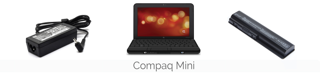 Compaq Mini accu, batterij, adapter, oplader, voeding, autolader, toetsenbord, keyboard en beeldschermen bestellen