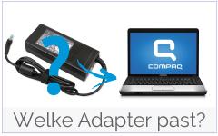 Welke oplader past in mijn Compaq laptop?