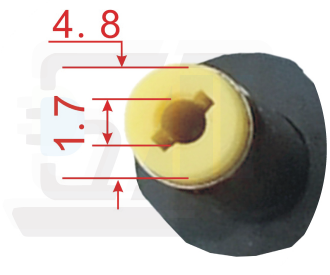 4,8x1,7mm asus adapter-oplader connector-plug