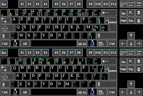 asus qwerty azerty indeling
