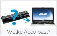Welke accu-batterij past in mijn Asus laptop?