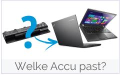 Welke Lenovo-IBM accu/ batterij heb ik nodig?