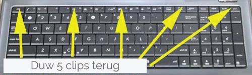 Samsung toetsenbord keyboard vervangen stap 1