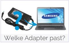 Welke Samsung adapter, oplader is geschikt voor mijn Samsung laptop?