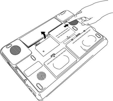 Zelf Sony Vaio accu/ batterij vervangen/ plaatsen stap 1