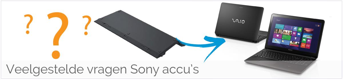 Veelgestelde vragen Sony Vaio accu/ batterijen