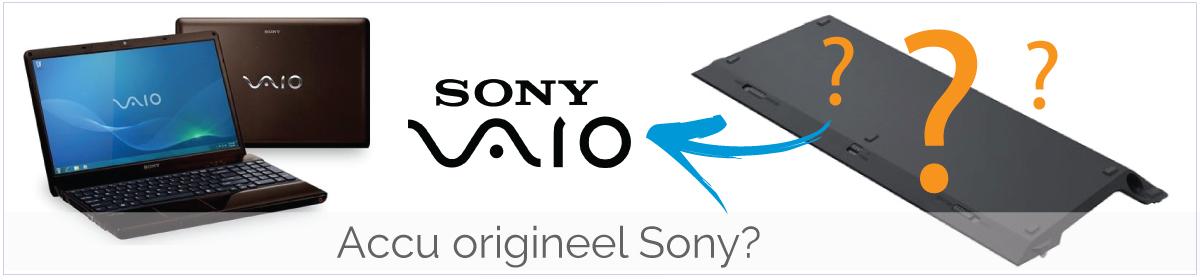 Zijn jullie Sony Vaio accu's origineel?