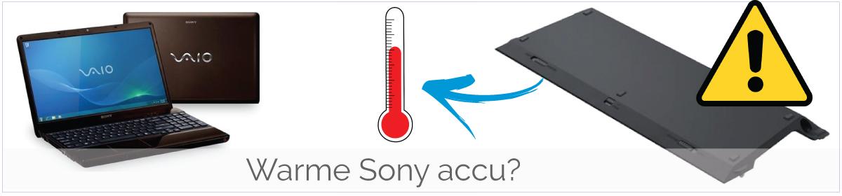 Sony Vaio accu wordt warm/ heet bij gebruik
