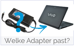 Welke oplader past in mijn Sony laptop?