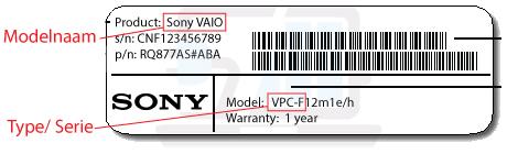 welke Sony laptop heb ik? model, type, kijk onderop uw Sony laptop