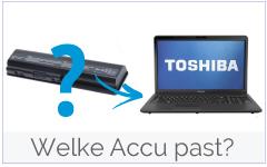Welke accu/ batterij past in mijn Toshiba laptop?
